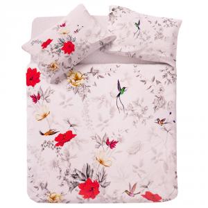 Set copripiumino matrimoniale Flower Power 1818 floreale bianco