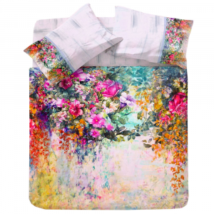 Set copripiumino matrimoniale 2 piazze Flower Power 1802 floreale multicolore