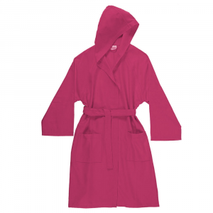 Bathrobe with hood in microfiber Bassetti TIME UNISEX - Fuxia 1848.
