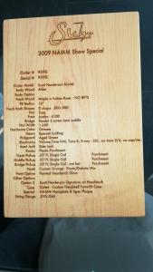 USATO! CHITARRA ELETTRICA SUHR SCOTT HENDERSON MODEL 2009 NAMM SHOW SPECIAL - SOLO CONSEGNA A MANO