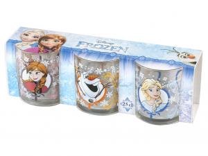 HOME Confezione 3 Bicchieri In Vetro Disneyfrozen Cl25 Arredo Tavola Tessili