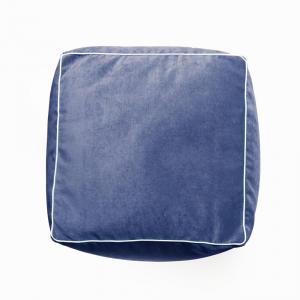 Pouf D'Artagnan Blu - Bianco