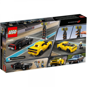 LEGO SPEED CHAMPIONS 2018 DODGE CHALLENGER SRT DEMON E 1970 DODGE CHARGER R/T
