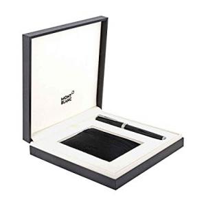 Montblanc Set con roller PIX black e porta carte di credito Soft Grain