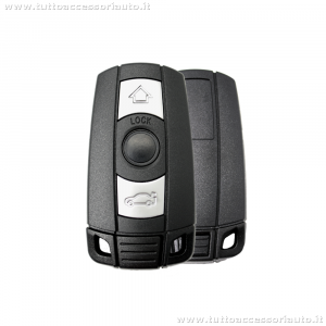 SCOCCA GUSCIO E LAMA ESTRAIBILE CHIAVE TELECOMANDO 3 TASTI PER AUTO BMW SERIE 1 3 5 6 7 X5 X6 Z4 SHELL CASE KEY