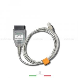 CAVO DIAGNOSTICA BMW MINI INTERFACCIA USB OBD2 K + DCAN INPA + CD CON SOFTWARE E DRIVER