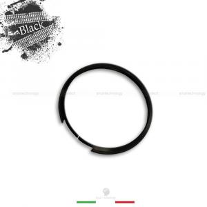 ANELLO DECORATIVO COVER RING PER AUTO MINI COOPER ONE D S COUNTRYMAN IN ALLUMINIO GUSCIO SCOCCA TELECOMANDO CHIAVE PORTACHIAVI (Black)