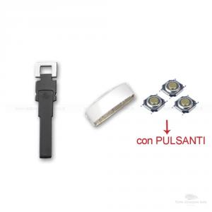 GUSCIO SCOCCA COVER VOLKSWAGEN 3 TASTI TELECOMANDO PASSAT TOURAN BORA TIGUAN SHARAN + TRE MICRO PULSANTI