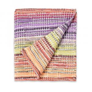 Plaid Missoni Home 130x180 cm misto lana TANCREDI 156 sui toni del rosso