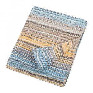 Plaid Missoni Home 130x180 cm misto lana TANCREDI 170 sui toni dell'azzurro