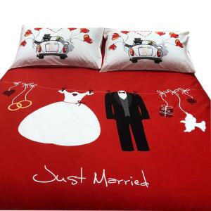 Bassetti completo copripiumino matrimoniale 2 piazze LOVE IS A COUPLE