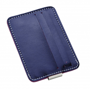 Porta carte di credito blu cm.10,5x7,5x1h