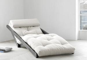 Figo chaise longue in legno e futon