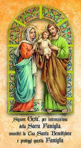 Benedizione Sacra Famiglia f.to 12x22 con oro (100 pz)