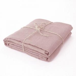 Lenzuolo di sopra matrimoniale 240x300 cm in puro lino LOFT - rosa polvere