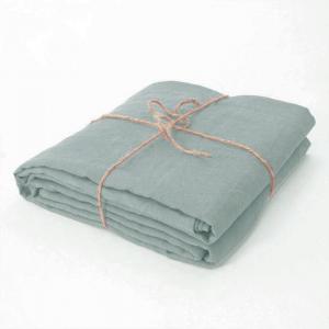 Lenzuolo di sopra matrimoniale 240x300 cm in puro lino LOFT - azzurro polvere