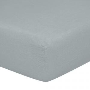 Lenzuolo con angoli matrimoniali 170x200 cm in puro lino LOFT - azzurro polvere