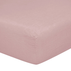 Lenzuolo con angoli matrimoniali 170x200 cm in puro lino LOFT - rosa polvere