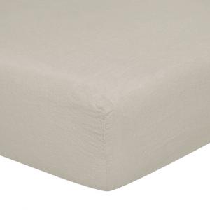 Lenzuolo con angoli matrimoniali 170x200 cm in puro lino LOFT - pietra