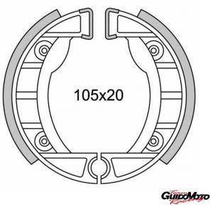 GANASCE FRENO ANTERIORE PIAGGIO BETA FANTIC GARELLI GILERA D105 MM GF0152