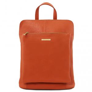 Tuscany Leather TL141682 TL Bag - Zaino donna in pelle morbida Brandy