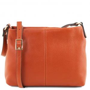Tuscany Leather TL141720 TL Bag - Borsa a tracolla in pelle morbida Brandy