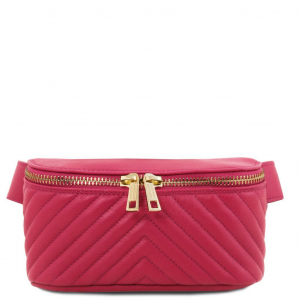 Tuscany Leather TL141741 TL Bag - Marsupio in pelle morbida Magenta