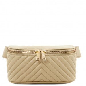 Tuscany Leather TL141741 TL Bag - Marsupio in pelle morbida Beige