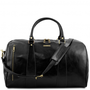 Tuscany Leather TL141794 TL Voyager - Borsa da viaggio in pelle - Misura grande Nero