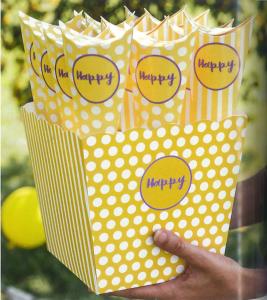 Scatola Happy Giallo / Lilla