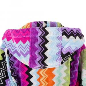 Missoni bathrobe with hood GIACOMO T59 Multicolor zig zag