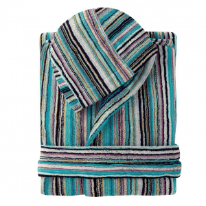 Missoni JAZZ Blue Bathrobe 170 zigzag size L