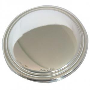 Blasone placca tondo in argento cm.0,3h diam.4