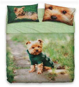 Set lenzuola singolo 1 piazza Mr. Dog BASSETTI effetto copriletto