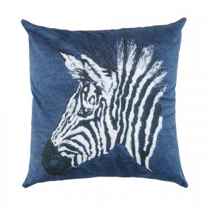 Fodera per cuscino arredo 40x40 cm BASSETTI Life Malindi Zebra denim