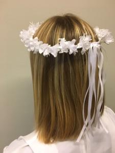 Coroncina fiori bianchi Prima Comunione
