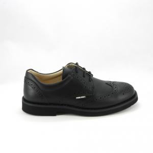 Scarpa bimbo elegante inglesina con lacci colore nero per paggetto e comunione.