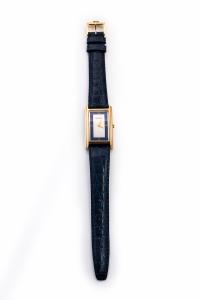 Orologio donna Gucci quadrante rettangolare colore Argentè e profilo Blu