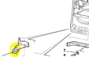 Guida inferiore porta laterale Doblo, 51735971
