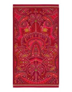 Telo mare in spugna 100x180 cm PIP STUDIO Sunrise Palms rosso