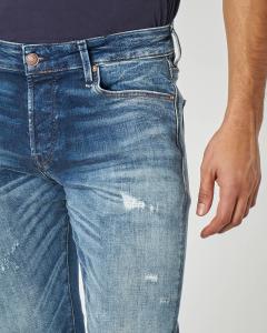 Jeans glenn stone wash con abrasioni