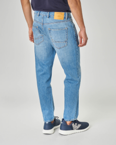 Jeans frank cropped lavaggio chiaro