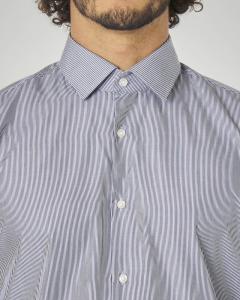 Camicia a bastoncino bianco blu