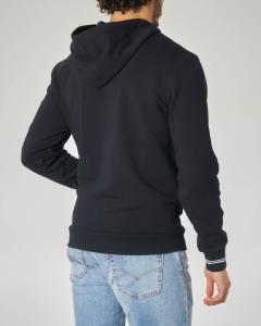 Felpa nera con zip e cappuccio