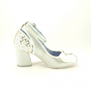 Scarpe donna argento Irregular Choice.
