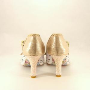 Scarpe sposa bianco/rosa Irregular Choice.