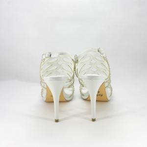 Sandali cerimonia donna brillanti con applicazione cristalli.