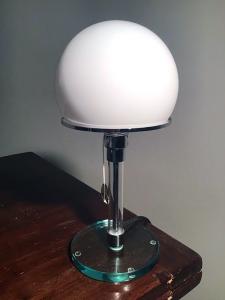 LAMPADA DA TAVOLO stile WAGENFELD riedizione Tecnolumen 1980 mod MT9
