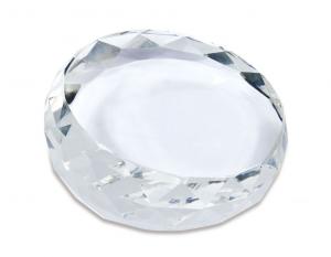 Fermacarte diamante in verto cm.7x7x3h