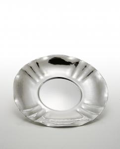 Piatto tondo stile Barocco placcato argento cm.3h diam.37